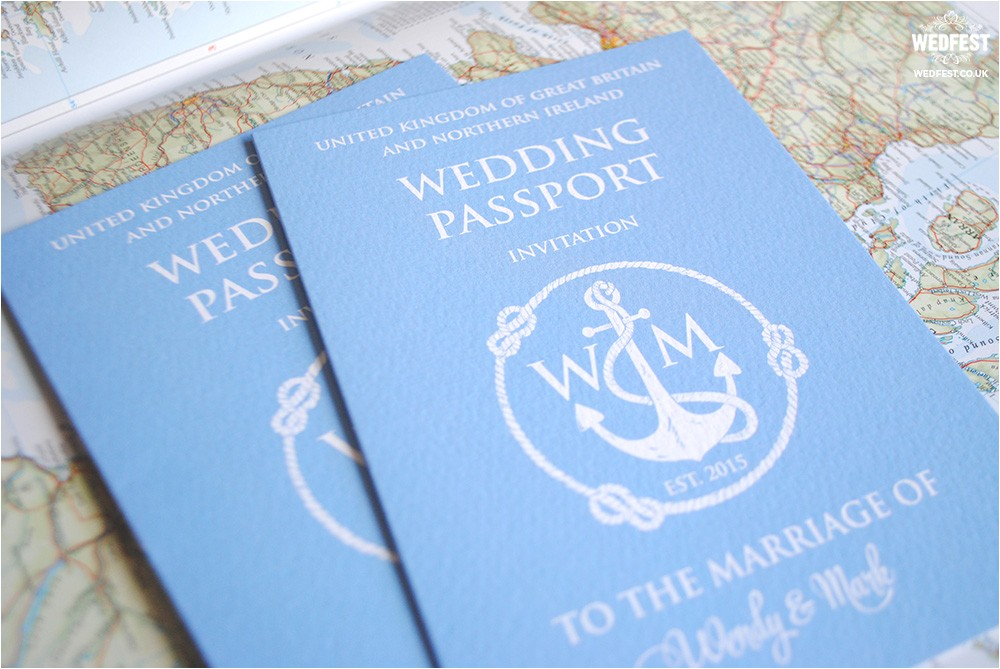 passport wedding invites