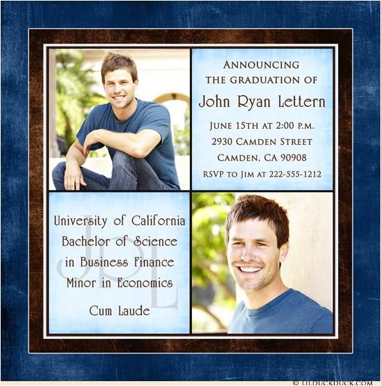 personalized college graduation announcement