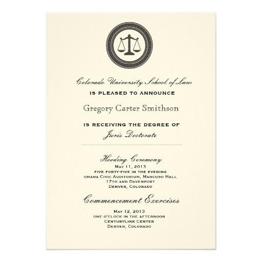 personalized law school graduation announcements 161528169929688794