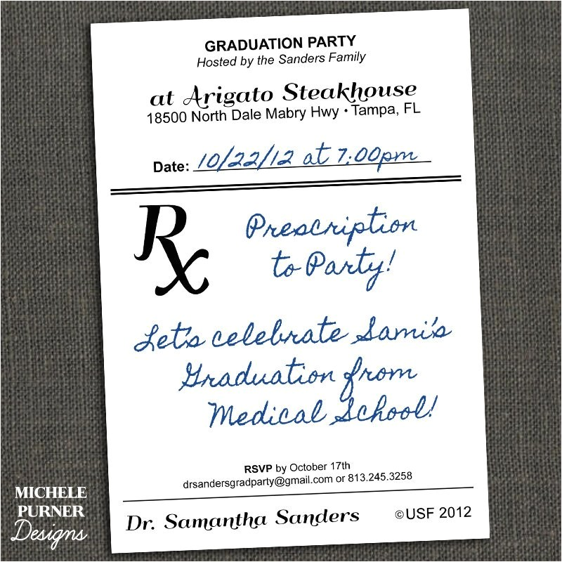 medical field graduation party