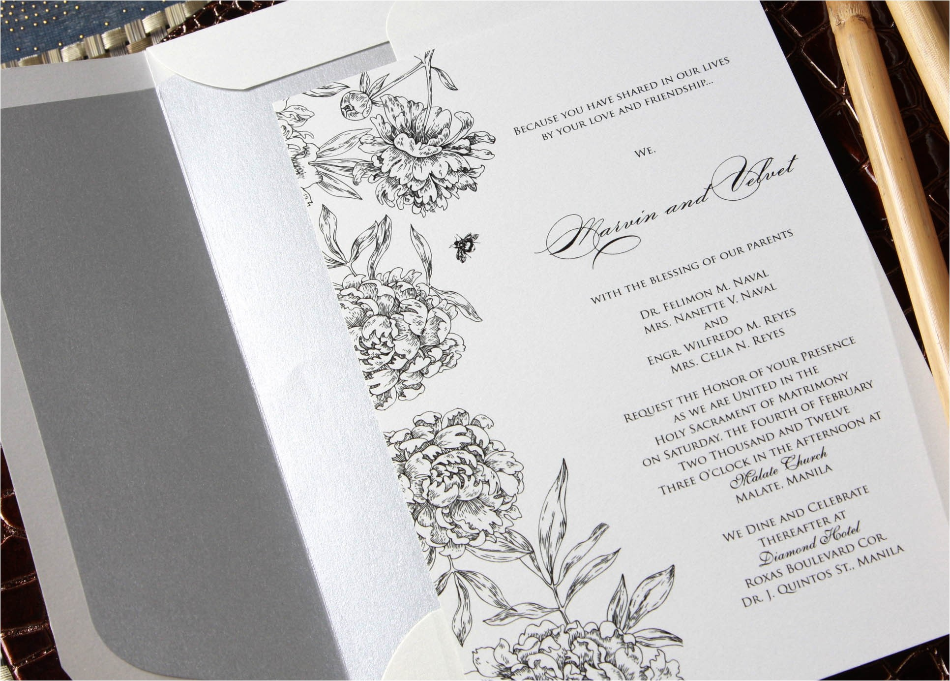 filipino wedding invitation