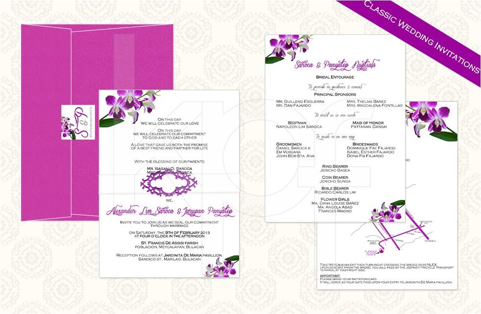 philippine wedding invitations