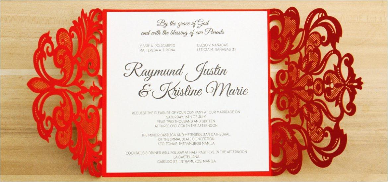 sample invitation wedding philippines