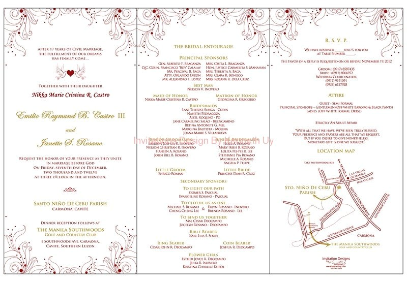wedding invitation philippines