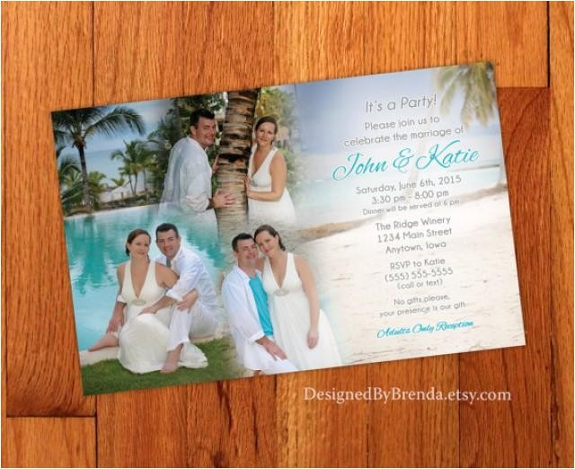 Photo Collage Wedding Invitations Blended Photo Collage Wedding Invitation Large Size