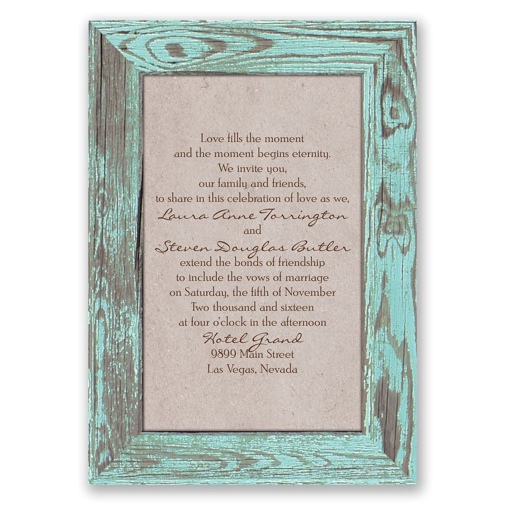 rustic frame invitation