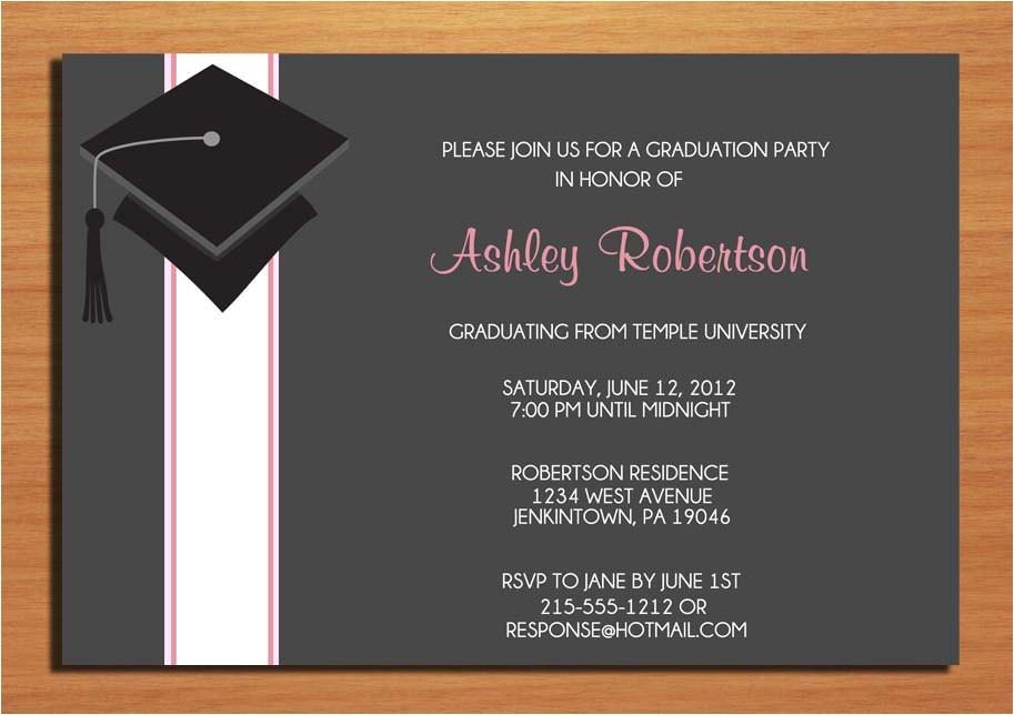 cap and ribbon graduation party