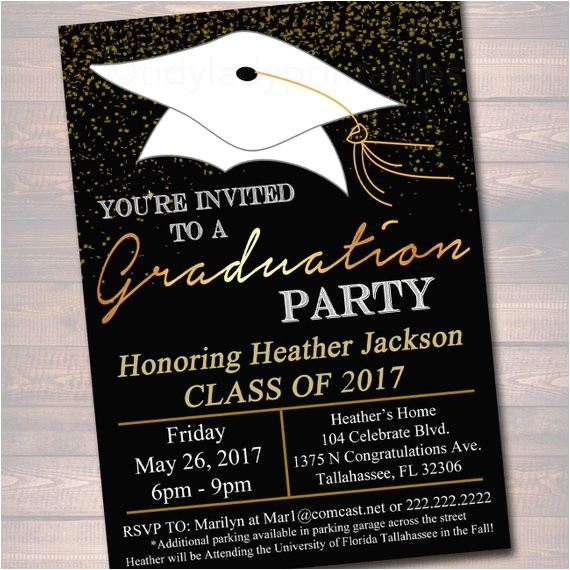editable graduation party invitation