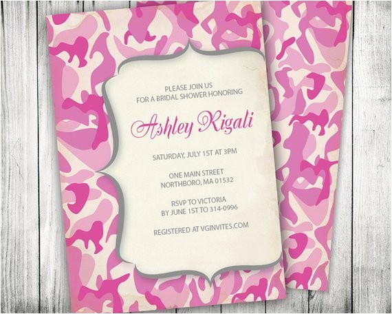 diy bridal shower invitations pink