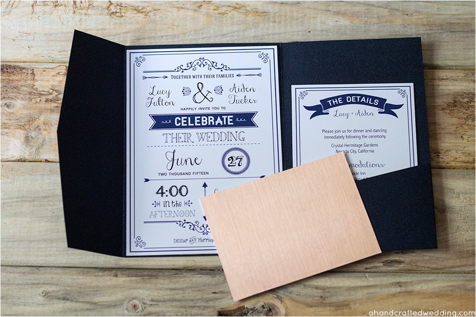 so if getting your wedding invitations printed in gold foil is out of your budget navy envelope modern places that make wedding invitations