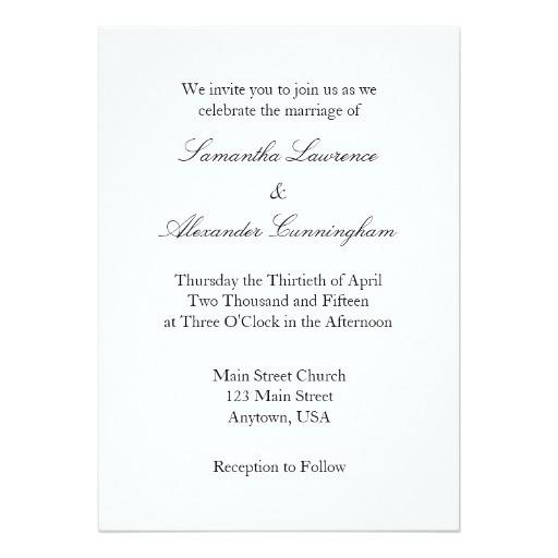 white plain simple wedding invitation 256301148330754725
