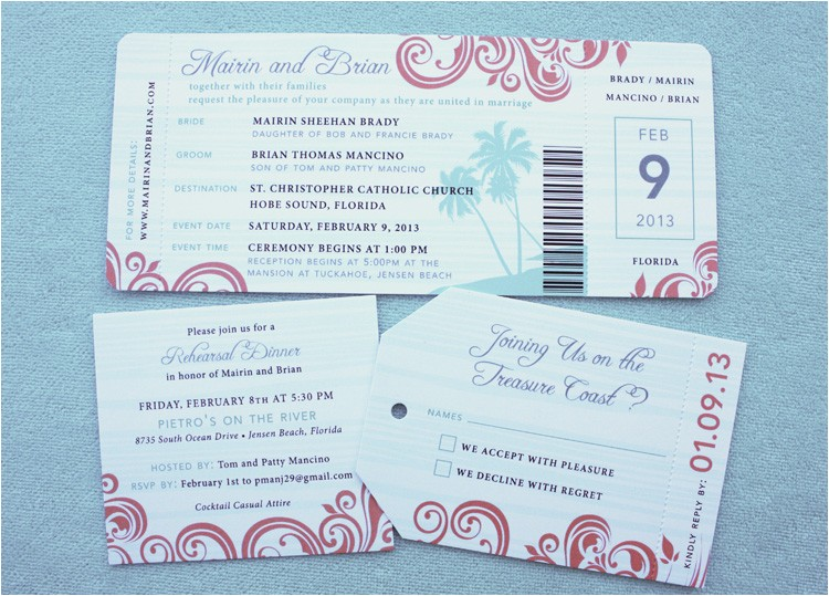 wordings airline ticket wedding invitation template free as well