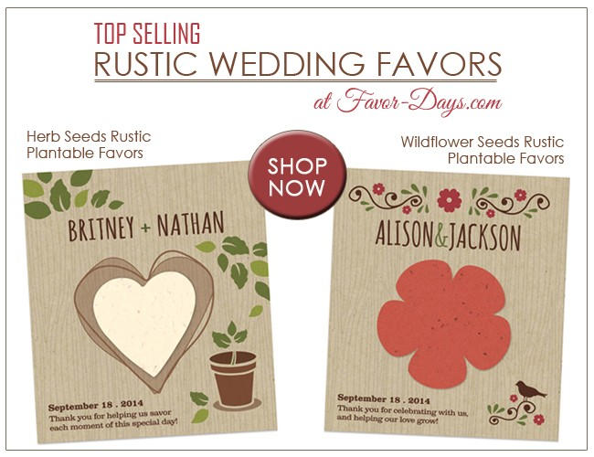 plantable wedding favors the perfect touch for rustic weddings