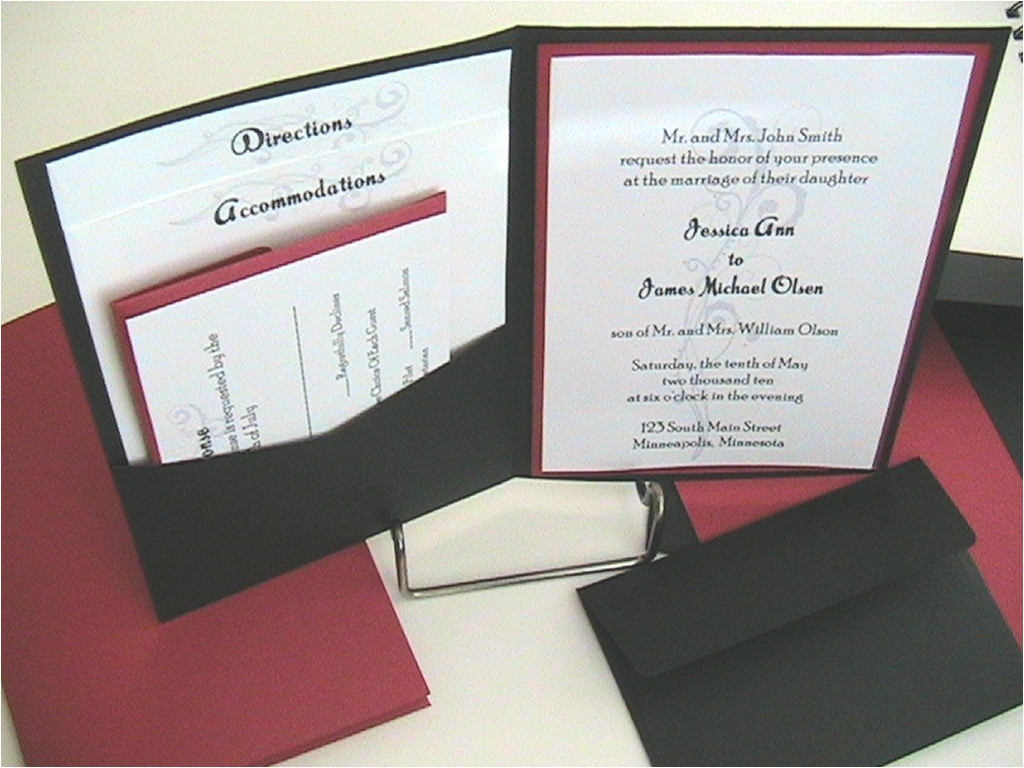 printable pocket wedding invitation kits