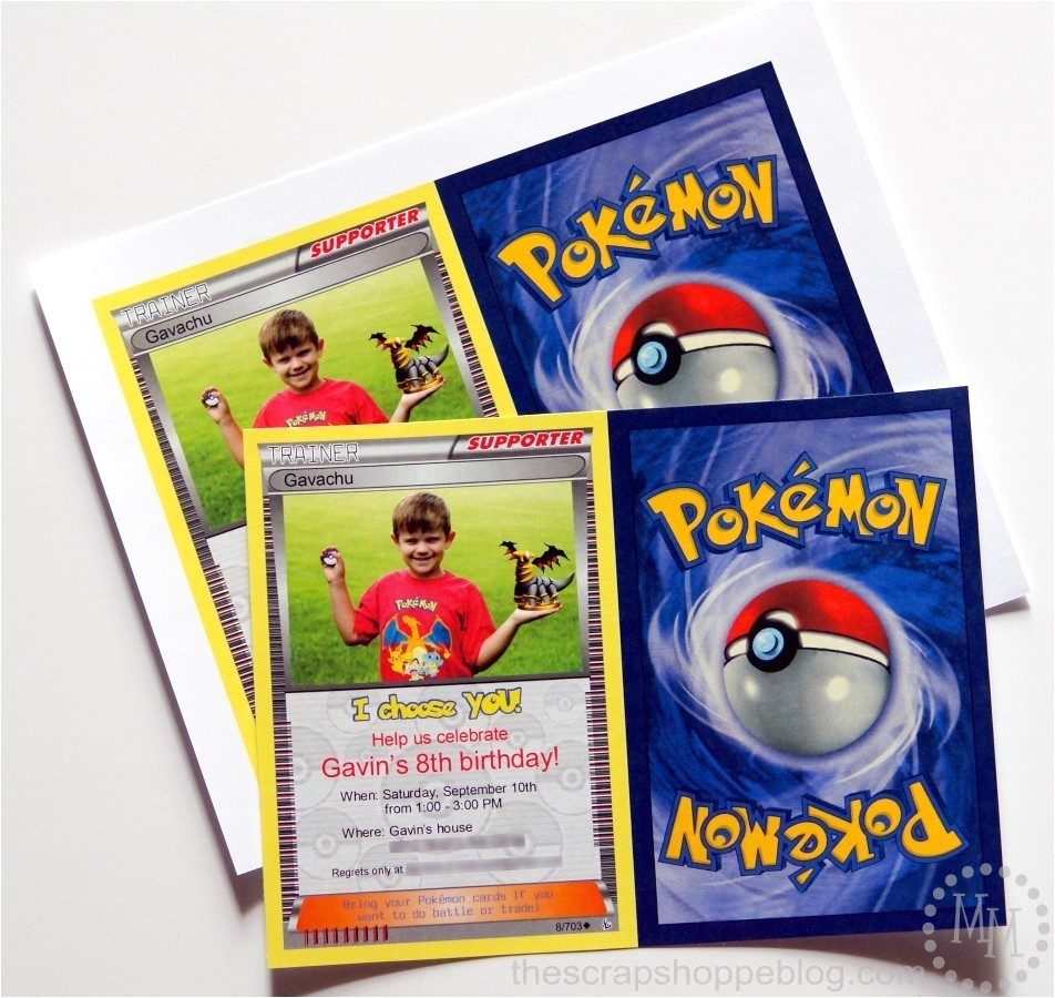 cozy pokemon card invitations on card for wedding invites