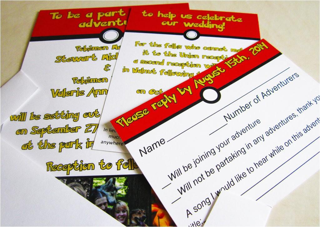 Pokemon Wedding Invitations Pokemon Wedding Invitations by My Way13 On Deviantart