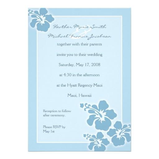 hawaiian hibiscus wedding invitation 161087228238631834