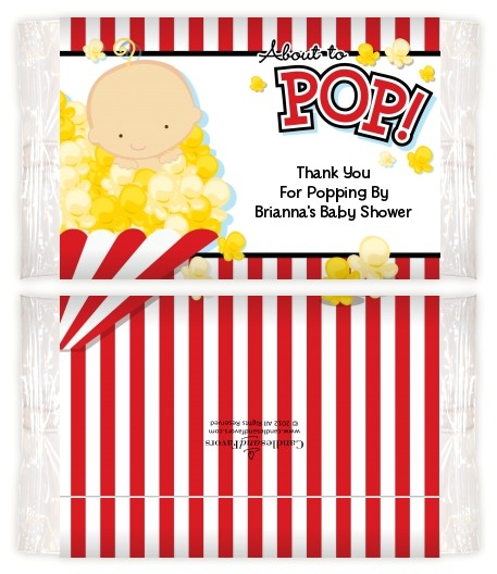excellent baby shower popcorn wrappers for custom baby show