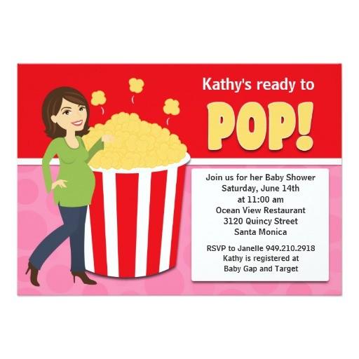 popcorn baby shower invitation 161564587693722855