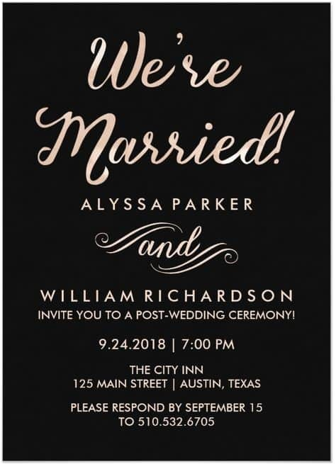 21 beautiful at home wedding reception invitations respond
