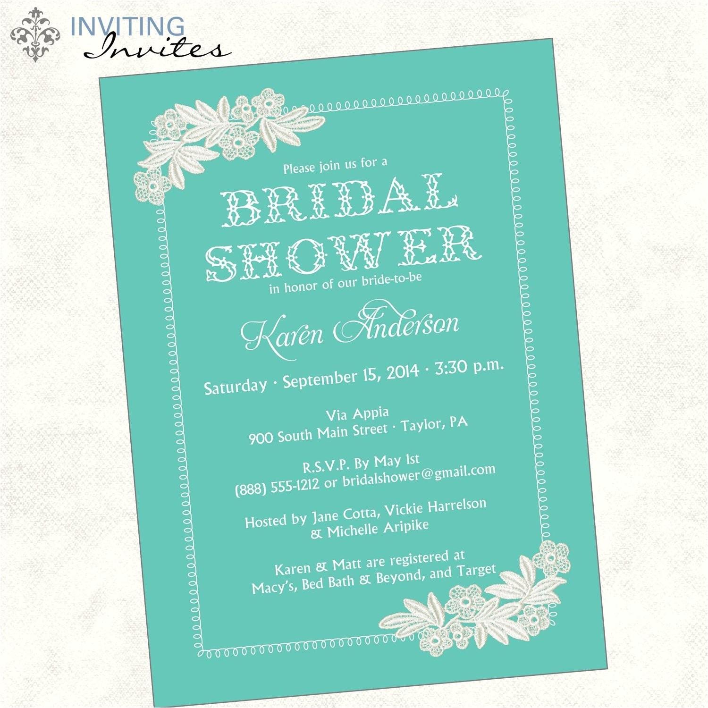 bridal shower invitation wording monetary gifts