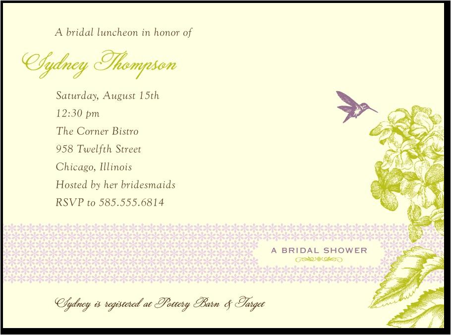 bridal shower invitation wording shutterfly