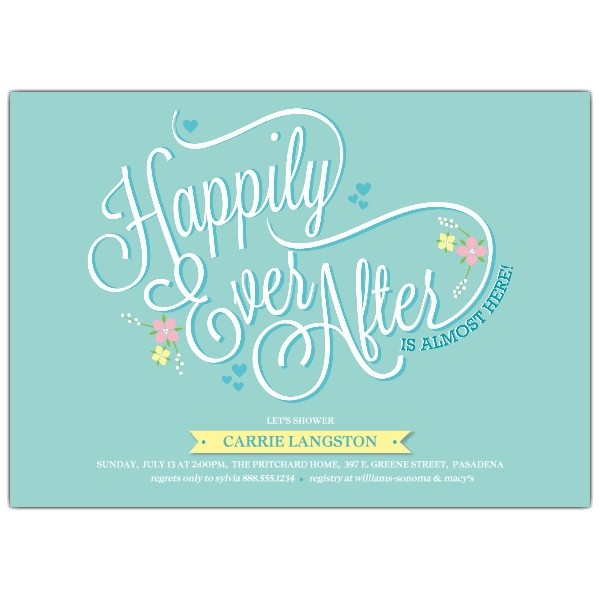 happily ever after bridal shower invitations p 638 75 106