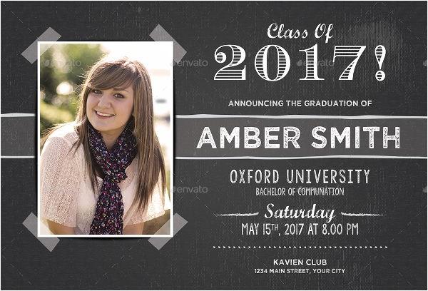 graduation invitation postcard