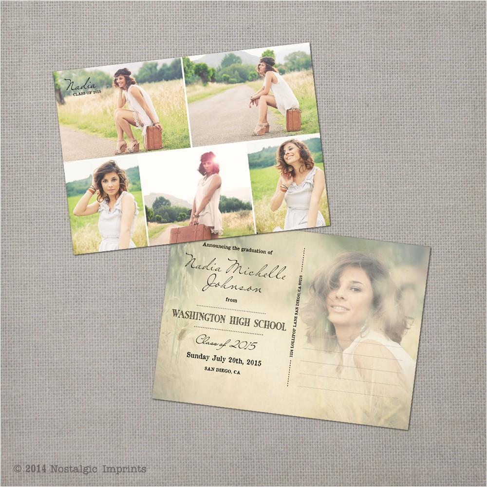 fabulous graduation postcard invitations with graduation pos