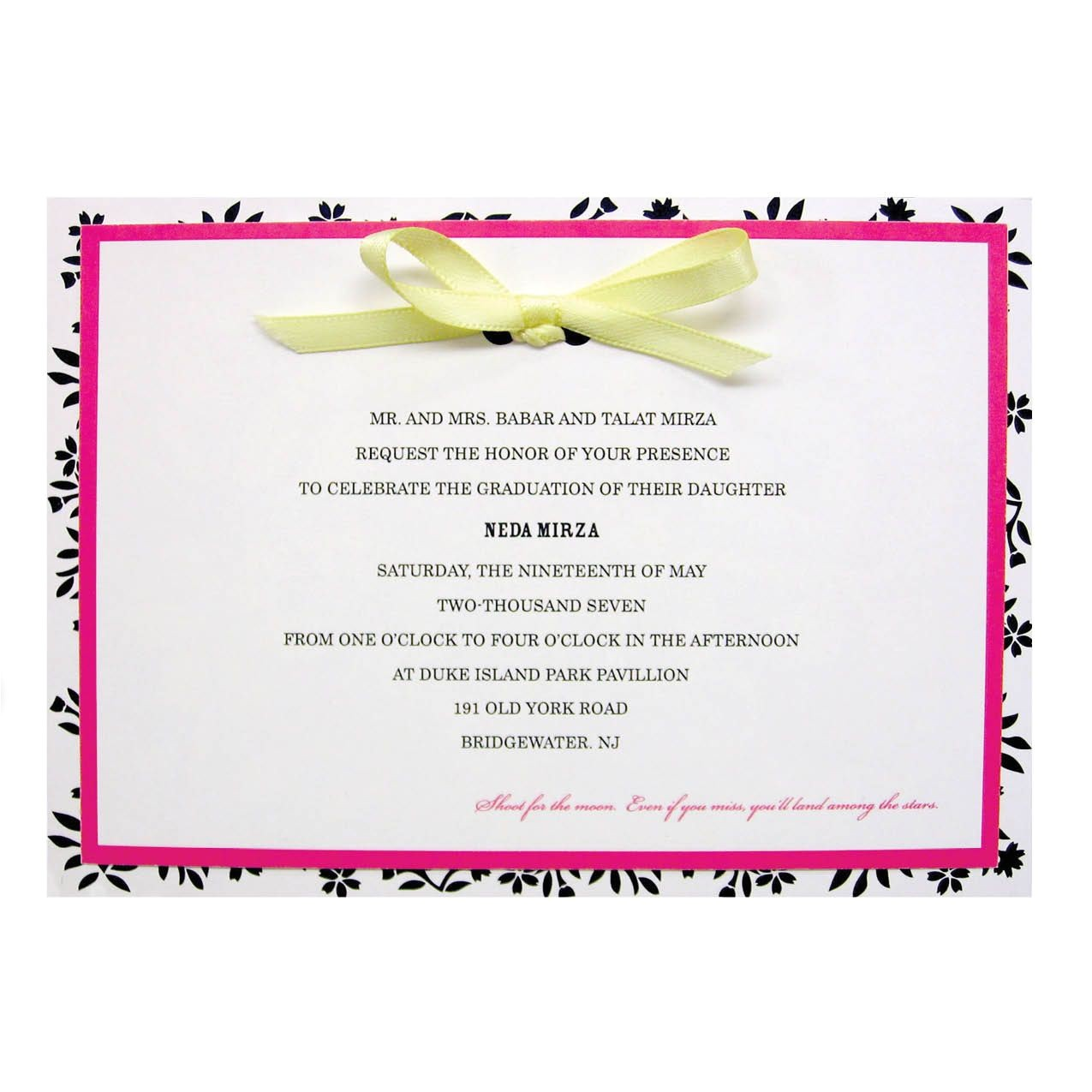 invitation card graduation party