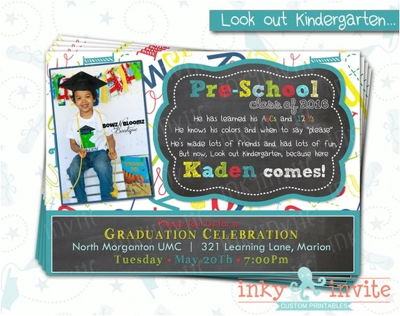 pre school graduation invitation pre class 2