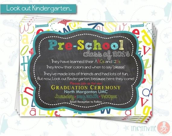 pre school graduation invitation pre k