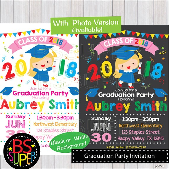 graduation party invitation kindergarten