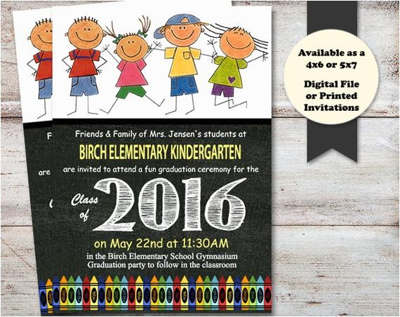 kindergarten preschool graduation announcements invitations printed