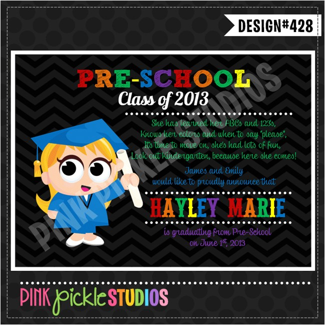 pre school graduation party invitation