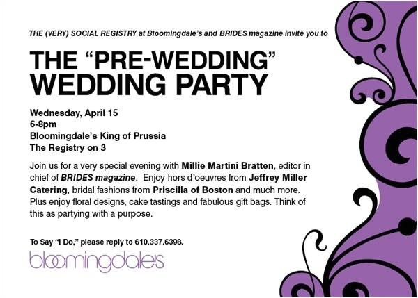 pre wedding party invitation wording