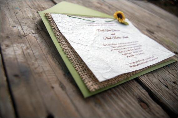 premade rustic burlap sunflower wedding