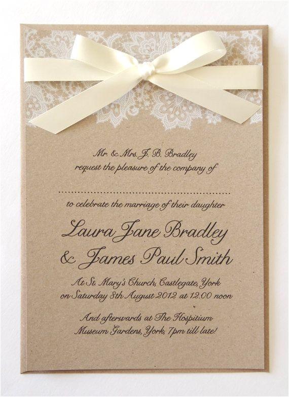 pre made wedding invitations