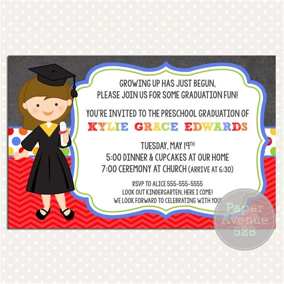 girls graduation invitations chalkboard