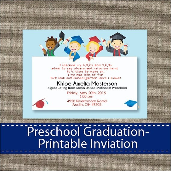 preschool graduation invitation ideas