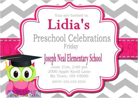 graduation invitation preschool kinder