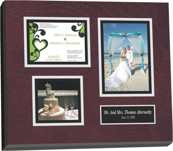 framed wedding memorabilia