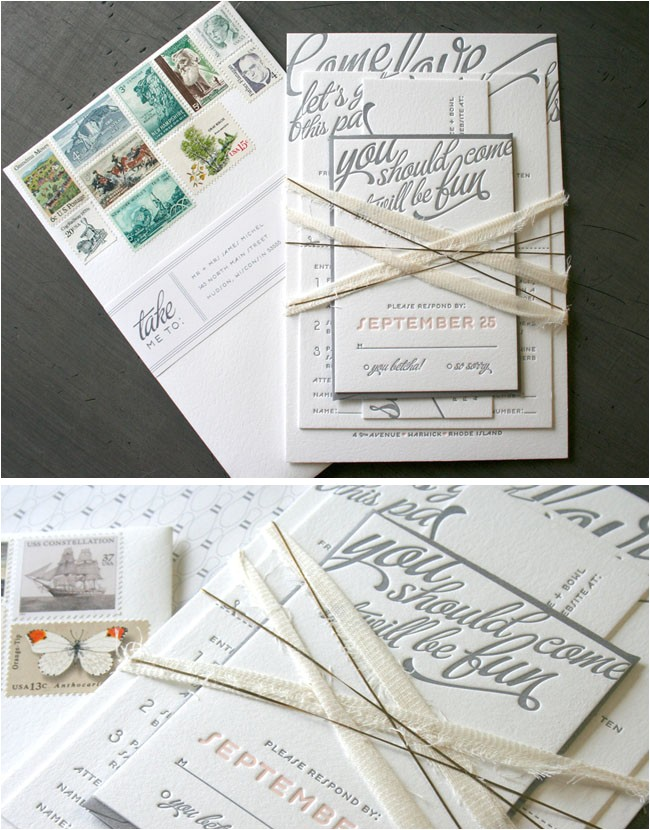 Pretty Stamps for Wedding Invitations Pretty Invitations Green Wedding Shoes Wedding Blog
