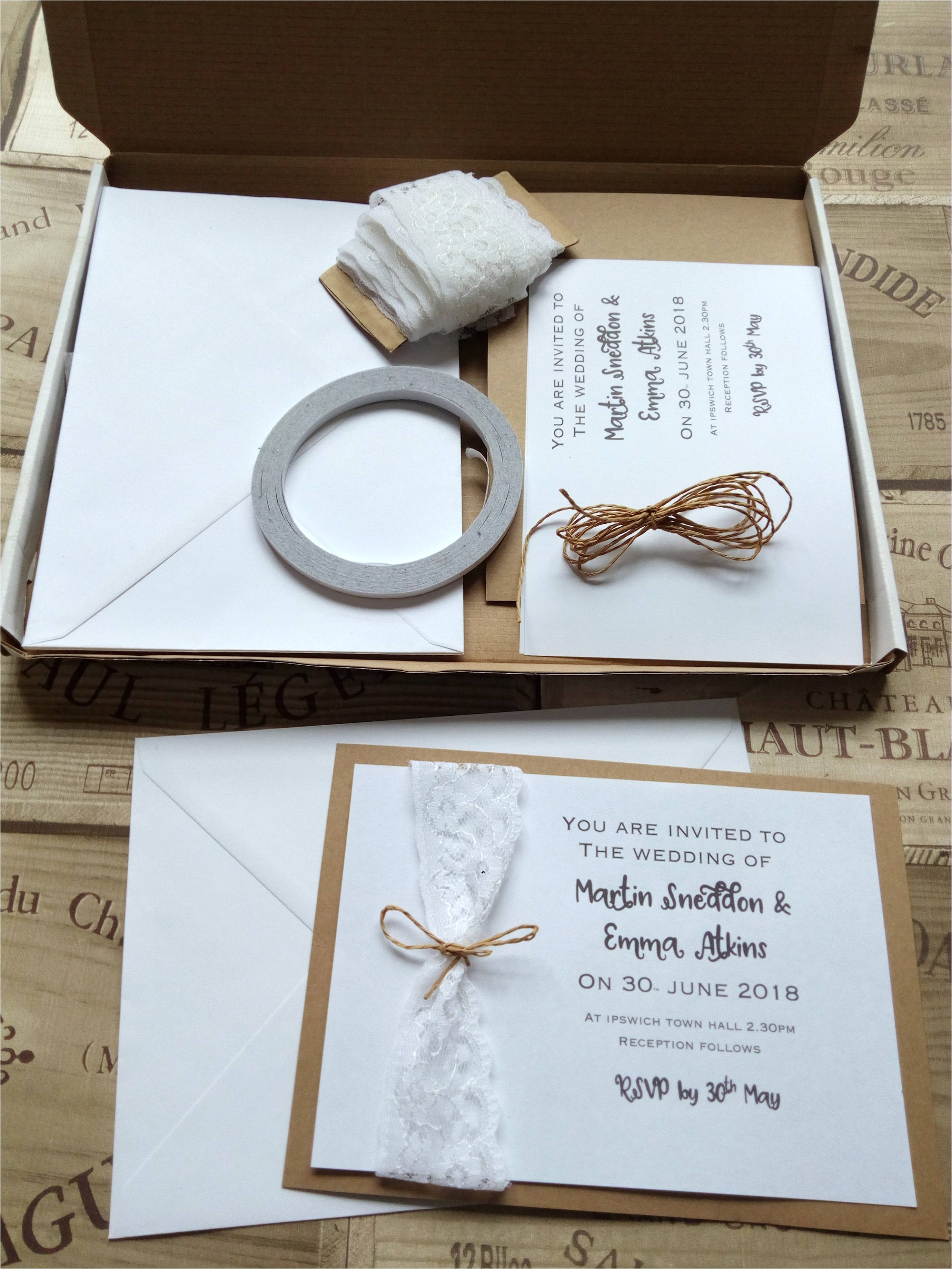 wedding invitation kit make your own