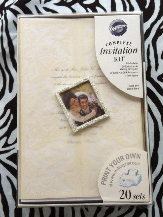 wilton print your own wedding invitation