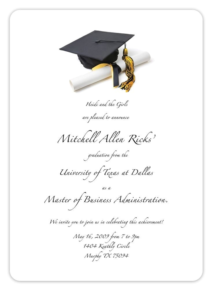 free printable graduation announcement templates