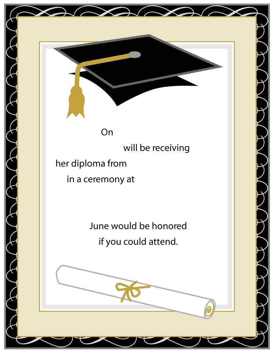 Printable Graduation Invitations 2018 Printable Graduation Party Invitations