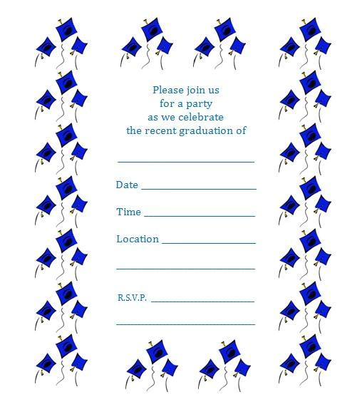 free printable graduation party invite