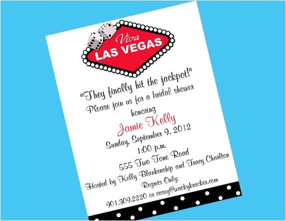 bridal shower invitations las vegas