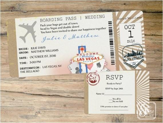 las vegas wedding invitation destination